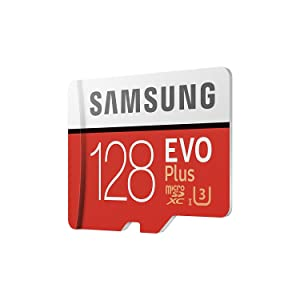 Samsung Evo Plus Class 10 UHS-I microSDXC U3 with Adapter (128GB MB-MC128GA/APC) (Color: Red, Tamaño: 128GB MB-MC128GA/APC)