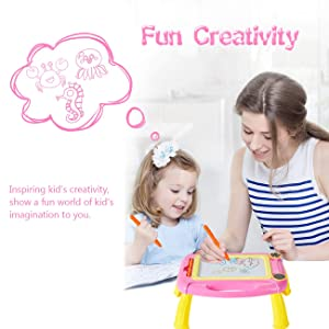 Matesy Birthday Gifts for 1 Year Old Girls, Kids Magnetic Doodle Board Gifts for 2 1 3 4 5 Year Old Boys Gift Age 1 2 3 4 5 Birthday Present Baby Gifts for 1 2 3 4 Year Old Girls Gifts Age 1 2 3 4 5 (Color: rose red)
