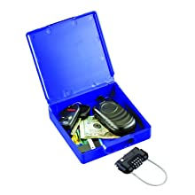 MMF Industries Mobile Security ICASE with Combination Lock, 9.92 x 1.5 x 5.91 Inches, Blue (2648338)