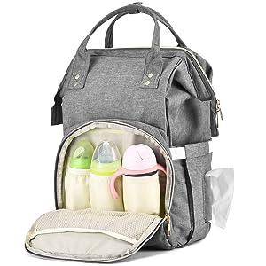 Practical Mother Handbag Baby Diaper Nappy Bag Milk Bottle Storage Organizer TYU