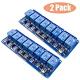 Huayao 2pcs 8 Channel DC 5V Relay Module with Optocoupler for Arduino UNO R3 MEGA 2560 1280 DSP ARM PIC AVR STM32 Raspberry Pi