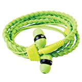 Wraps Wearable Braided Wristband Headphone Earbuds, Classic Green (WRAPSCGRN-V5)