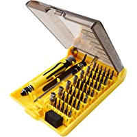 JACKYLED 45 in 1 Precision Screwdriver Tool Kit Compact Repair Maintenance Opening Pry Set
