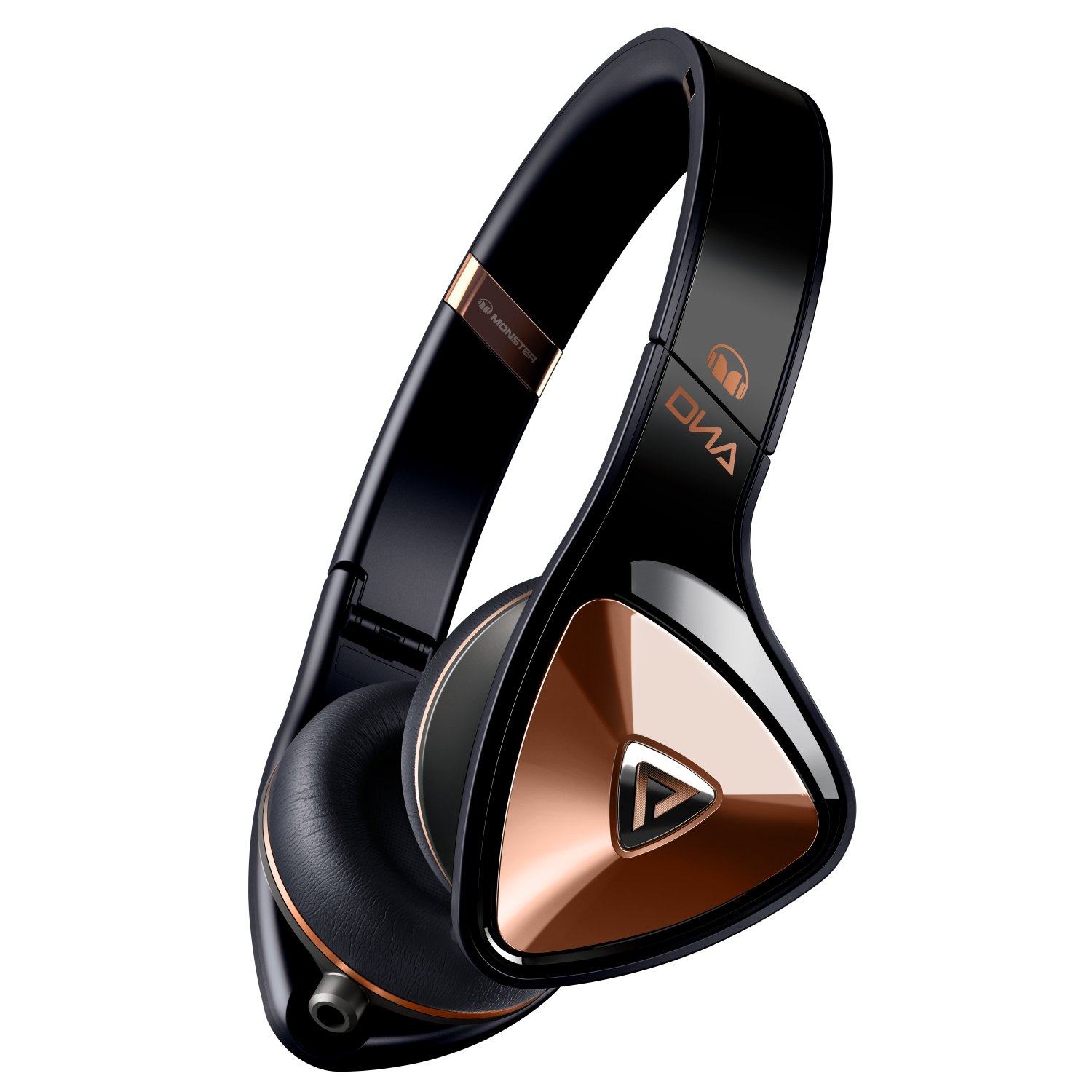 Monster Cable On-Ear Headphones (Black with Rose Gold)