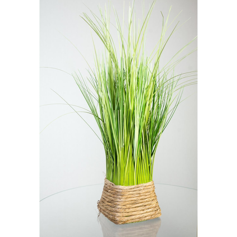 Kunstpflanze Grasbüschel Grün/Gelb im