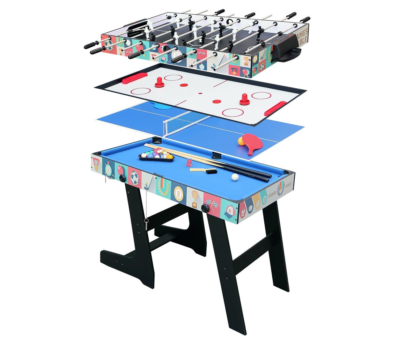 HLC klappbar 4 in 1 multifunknierte Tischspiel Tischfußball /Tischtennis /Air Hockey /Billard/Tisch günstig online kaufen
