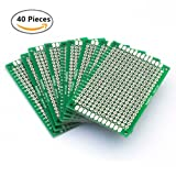40Pcs Double Sided PCB Board Prototype Kit,PCB Universal Printed Circuit Board for DIY Soldering and Electronic DIY projects