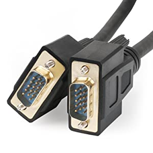 Postta VGA to VGA Cable (50 Feet) HD15 Male to Male Monitor Cable with Ferrites (Tamaño: 50FT)