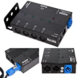 MFL. 4 Way Isolated DMX Splitter Amplifier Distributor with 3-Pin Outputs (Color: 4)