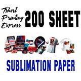Sublimation Paper 8.5 x 11 Dye Sub Paper Light Fabrics - Heat Transfer Paper - Papel Transfer de Sublimación (200 SHEETS) (Tamaño: 200)