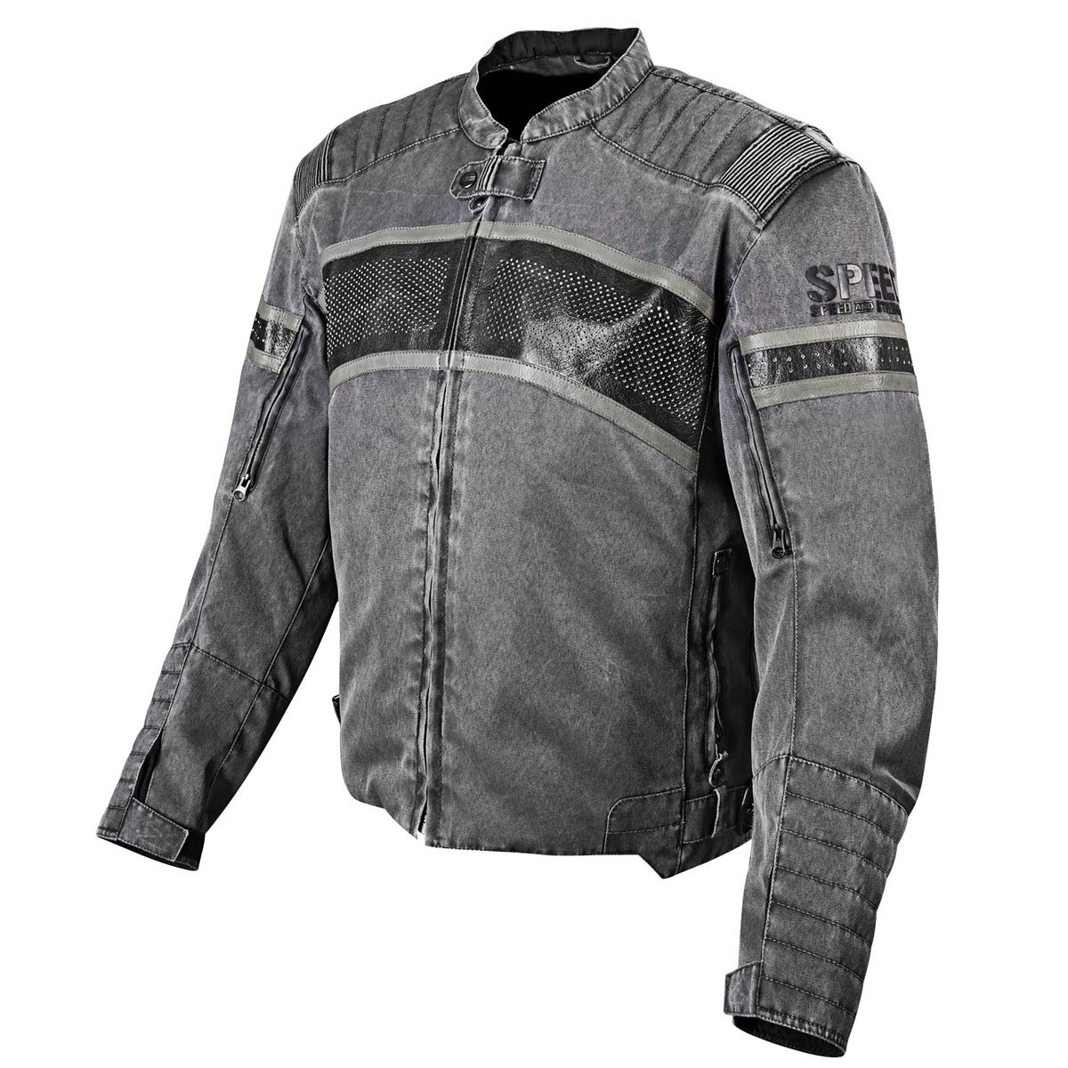 Speed and Strength Cruise Missile Men's Motorcycle Textile/Leather Jacket (Vintage Black, Large) 0