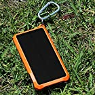 EZOPower Outdoor USB Solar External Power Bank Backup Battery Charger- 10000mAh For Samsung Galaxy Note 4 / Galaxy Mega 2 / Galaxy Alpha / One Plus and more - Black/Orange
