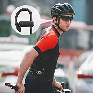 Sports Wired Earbuds with Microphone, in Ear Earphones with Comfortable Wrap Around Hook, Running Headphones for Workout Exercise Gym, with 3.5mm Audi