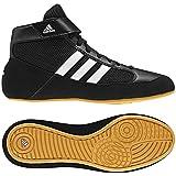 adidas HVC 2 Youth - Laced Wrestling Shoe, Black/White/Grey, 13 K US