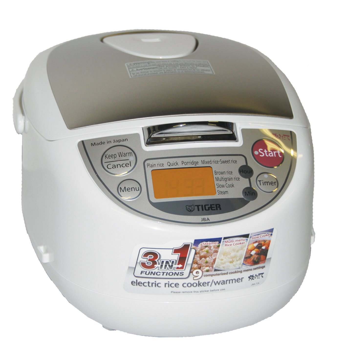 Tiger JBA-T10U 5.5 cups Microcomputer Controlled Rice Cooker- Made in Japan