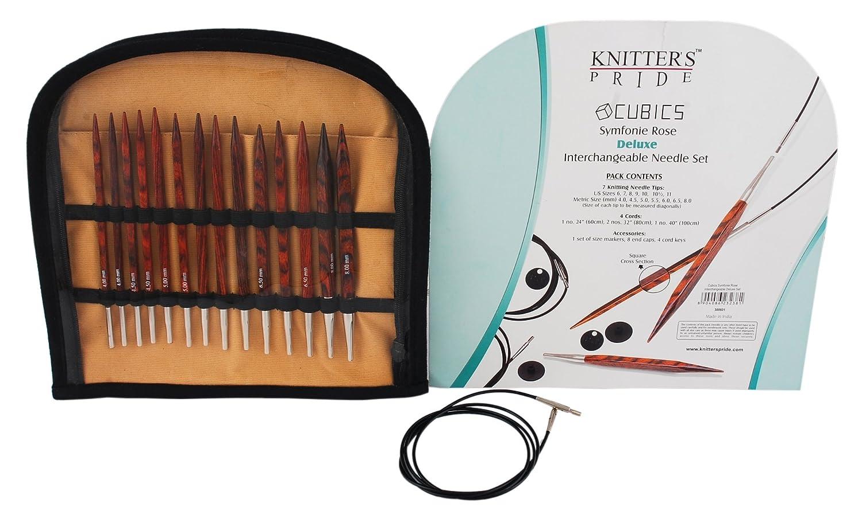 Knitting Needle Sets Circular Interchangeable Reviews : Knitpro cubics interchangeable needle deluxe set