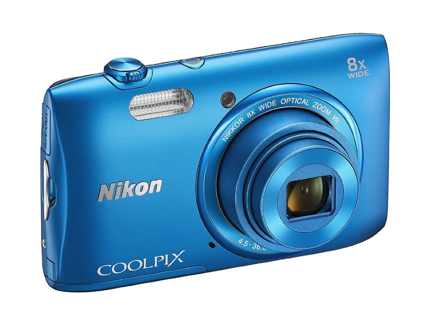 Nikon COOLPIX S3600 20.1 MP Digital Camera with 8x Zoom NIKKOR Lens and 720p HD Video (Blue) (Certified Refurbished)