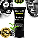 Charcoal Cool Peel off Mask Ultimate Purifying Black Mask for Men & Women,Blackhead Remover Activated Carbon Face Mask for Acne, Oil Control, and Wrinkle Reduction (50ml) (Color: Black)