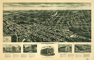 Aerial View of Westwood, New Jersey, 1924