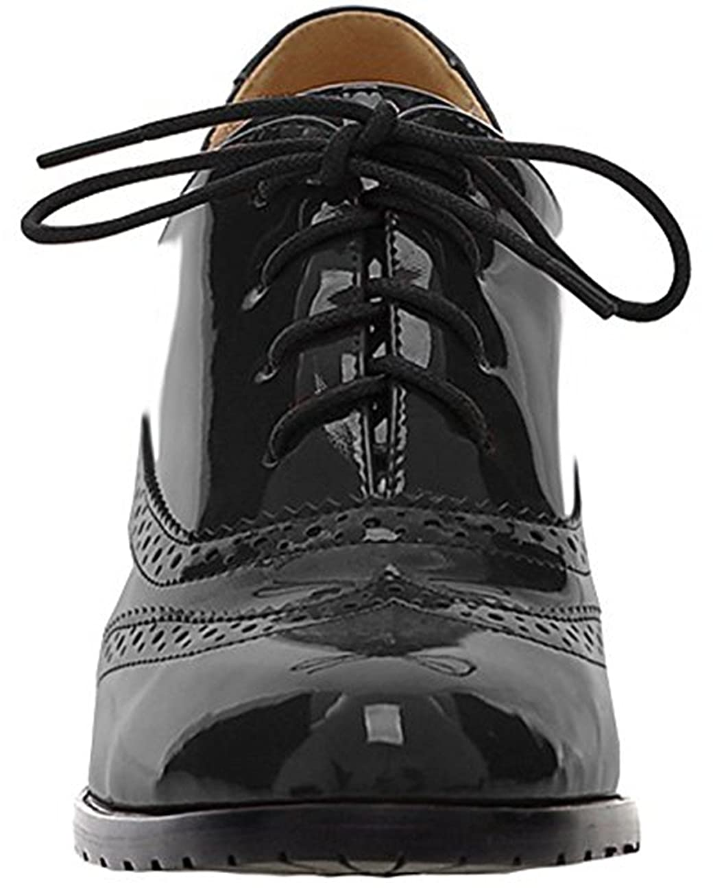Women's Oxford Dress Pumps WGWJM-Patent Leather-Mid-heel-Hallowmas Shoes 2