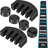 Jetec 7 Pieces Rubber Violin Practice Mute Set, Included 2 x Claw Style Mute and 4 x Round Tourte Style Mute and 1 x Violin Note Sticker for 4/4 Violin, Black