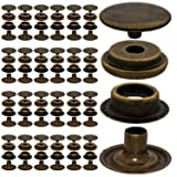 100pcs 15mm Stainless Steel Fastener Snap Press Stud Cap Button Marine Boat Canvas Bronze (Color: Bronze, Tamaño: 15mm)