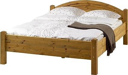 3-4-1925: Einzelbett Liegefläche 90/200, Kiefer massiv, gelaugt - geölt, schönes Bett