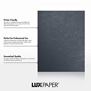 LUXPaper 8.5 x 11 Paper for Crafts and Printing in Dorian Gray Metallic - Cocktail, Scrapbook and Office Supplies, 250 Pack (Dark Gray) (Color: Dorian Gray Metallic - Cocktail?, Tamaño: 250 Qty.)