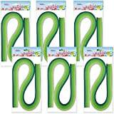 Juya Paper Quilling Set 54cm Length Up to 42 Shade Colors 6 Pack(7 Green Colors,Width 5mm) (Color: 7 Green Colors, Tamaño: Width 5mm)