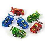 Rhode Island Novelty RN VEPULL3-12 0885949654305 12 Pull Back Racer Cars, Pack, Multi Colored