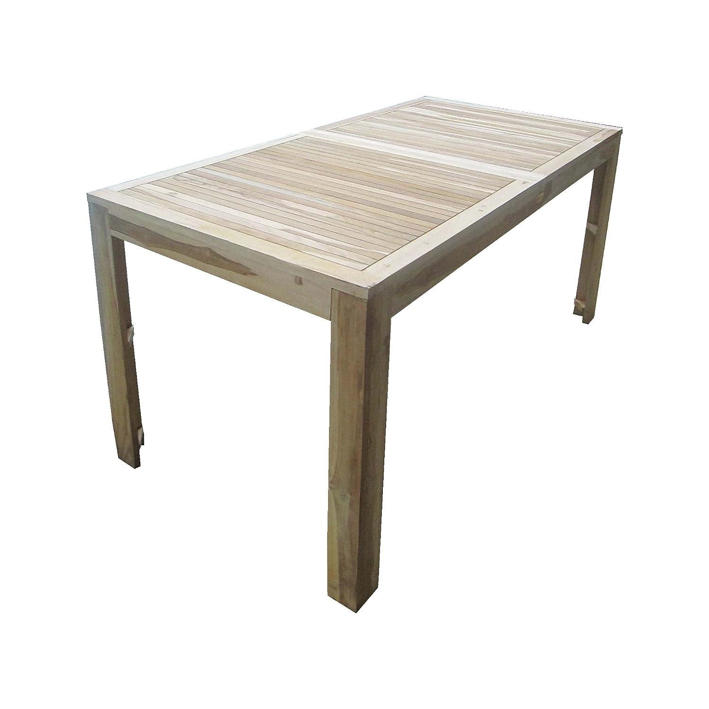 Teaktisch Esstisch Holztisch Teak Tisch 160 x 80 x 75 cm massiv und stabil günstig bestellen