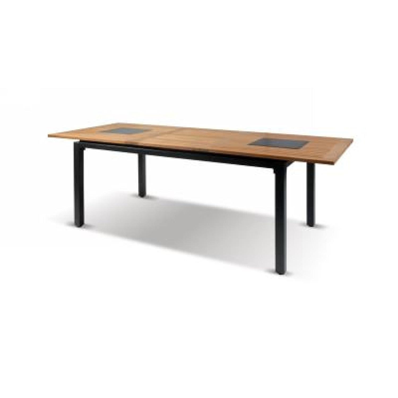 Hartman Concept Tisch ausziehbar 160/210 x 90 cm Teakholz/Aluminium