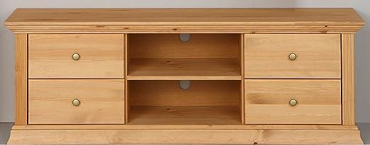 Mobiletto basso, per TV, in legno di pino