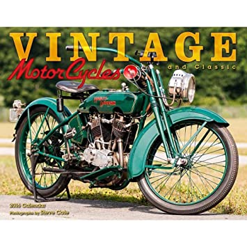 Amazon.com : 2016 Vintage And Clssic Motorcycles Deluxe Wall ...
