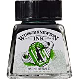 Winsor & Newton Drawing Ink Bottle, 14ml, Emerald (Color: Emerald, Tamaño: 14-ml Bottle)