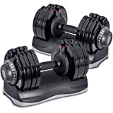 Merax Deluxe 71.5 Pounds Adjustable Dial Dumbbell (Pair. Set) (Color: Pair. Set)