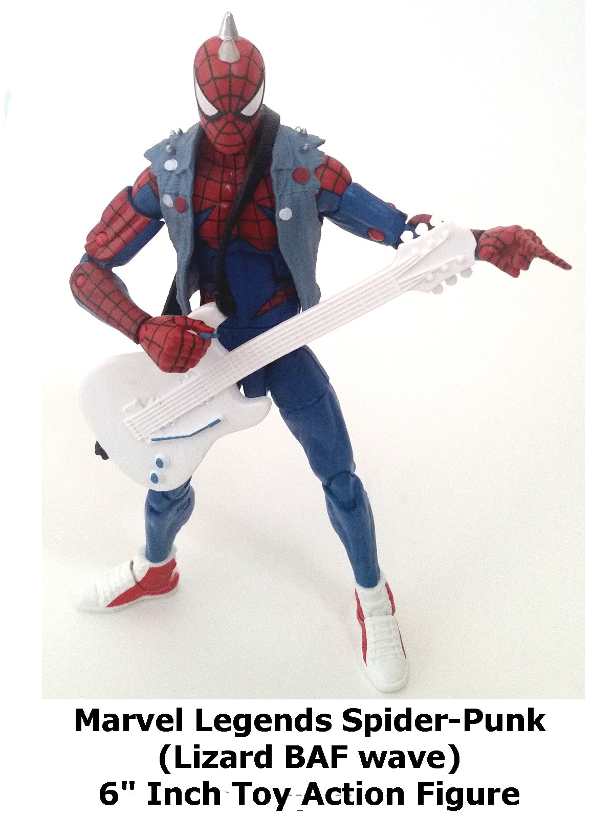"Review: Marvel Legends Spider-Punk (Lizard BAF wave) 6"" Inch Toy Action Figure:"