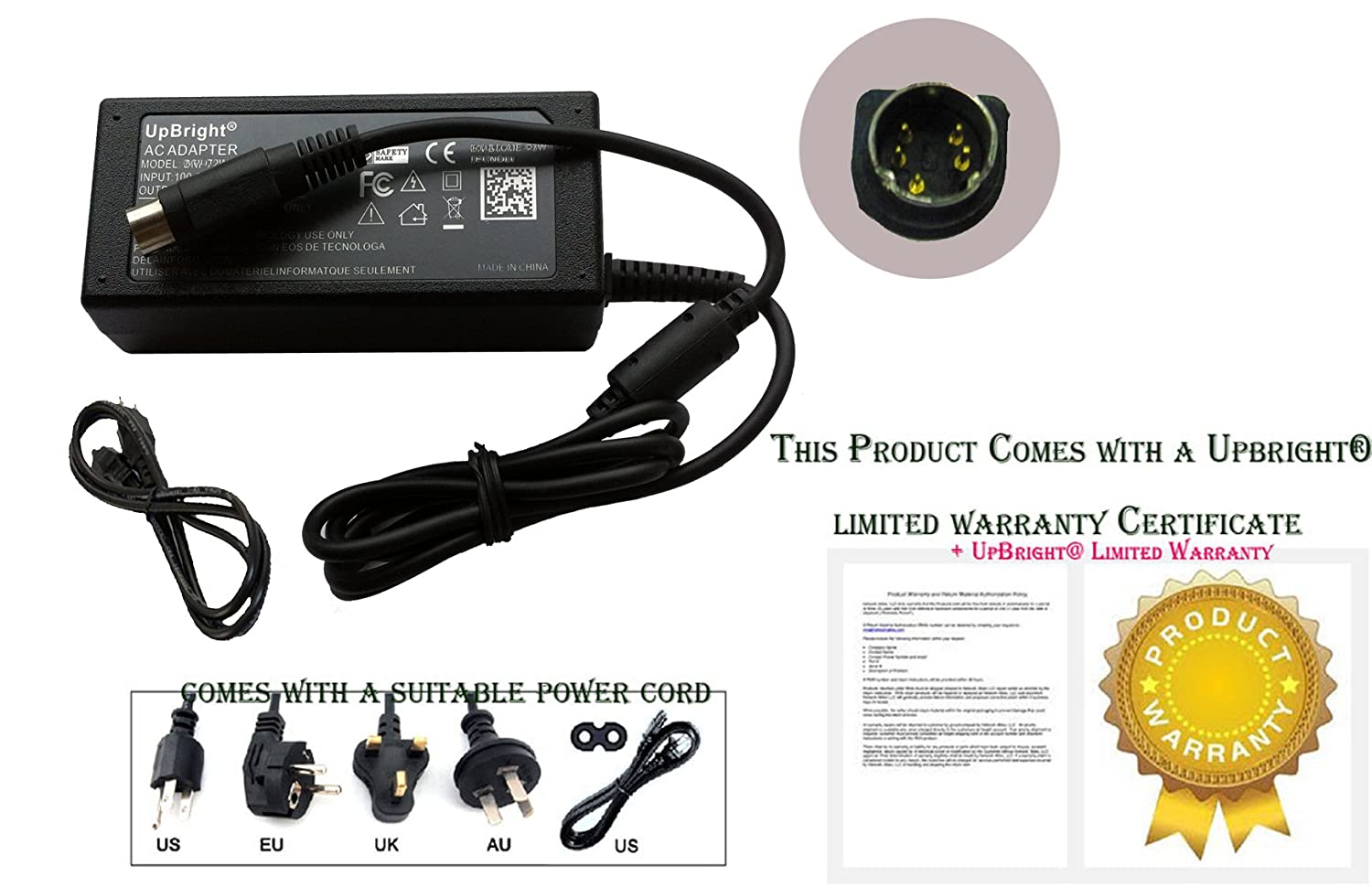 5 Pin Din Power Supply Upbright® New 5-pin Din Global