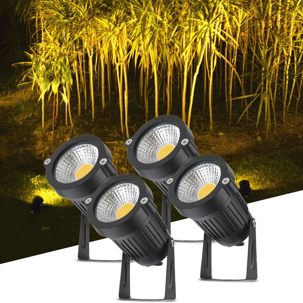 Tomshine 5W 12V COB LED Path Lights Outdoor Spotlight Landscape Lighting 500LM Super Bright for Garden Wall Yard Path