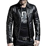 Laverapelle Men's Black Genuine Lambskin Leather Jacket - 1501200 - Medium (Color: 01a- Black - With Polyster Lining, Tamaño: Medium)