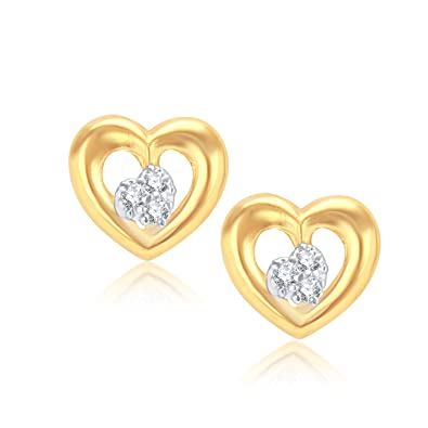 VK Jewels Agradable Gold And Rhodium Plated Alloy Earrings for Women & Girls made with Cubic Zirconia -ER1005G [VKER1005G] at amazon
