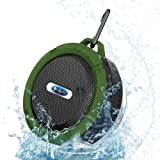 VNKING Bluetooth Shower Speaker, Wireless Waterproof Speaker with Suction Cup/ Built-in Mic/ Rechargeable Battery for PC Laptop Cellphone for Outdoor
