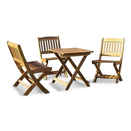 LD Lätt Niños–Muebles de Jardín muebles infantiles, acacia, madera dura