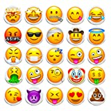 100 Pieces Creative Emoji Steel Thumb Tacks Push Pins Fashion Decorative Different Smiley face Patterns for Photos Wall Maps Bulletin Board or Corkboards (Emoji) (Color: Emoji)