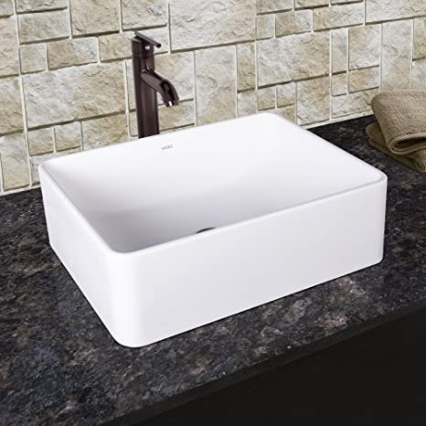 VIGO Caladesi Matte Stone Vessel Bathroom Sink and Seville Vessel Faucet with Pop Up, Oil Rubbed Bronze