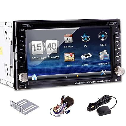 """Pupug 6.2 """"pouces Double 2 Din dans Dash Navigation GPS stšŠršŠo voiture lecteur DVD de voiture USB Sd Bluetooth Mp3 MP4 Radio Navigation tactile šŠcran LCD Moniteur avec lecteur DVD / CD / MP3 / MP4 / USB /"""