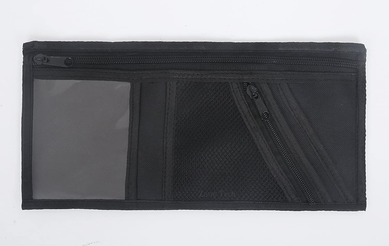 zone tech 5 pocket car visor organizer premium quality mesh and zippered pockets ebay. Black Bedroom Furniture Sets. Home Design Ideas