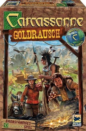 Hans im Gluck 48244 Jeu de Famille Carcassonne - Ruée Vers l'Or