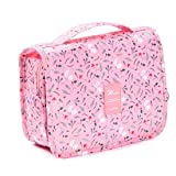 Hanging Travel Toiletry Bag,Hygiene Bag,Cosmetic Bag Makeup Pouch Waterproof Bathroom and Shower Organizer Wash Bag for Women Girls