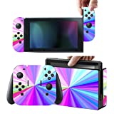 Protective Stickers for Nintendo Switch Console Joy con - Skin Vinyl Decals Protector Set for Switch Controller